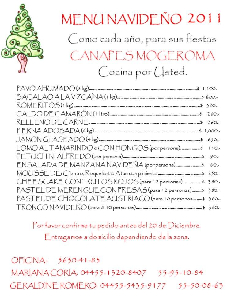 Menu navide o nosotras cocinamos por ti otro stylo para for Menu navideno facil de hacer