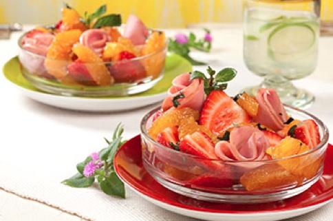 fresas y lomo canadiense