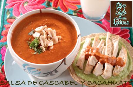 SALSA DE CASCABEL Y CACAHUATE