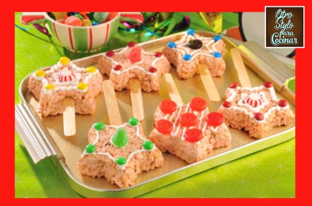 Paletas de Rice Krispies